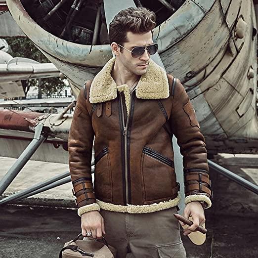 MEN'S FLIGHT AVIATOR B3 SHEARLING LEATHER JACKET