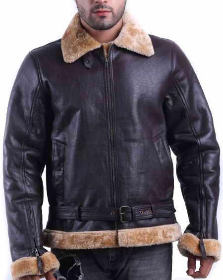 Men's Tom Hardy Shearling Jacket Dunkirk