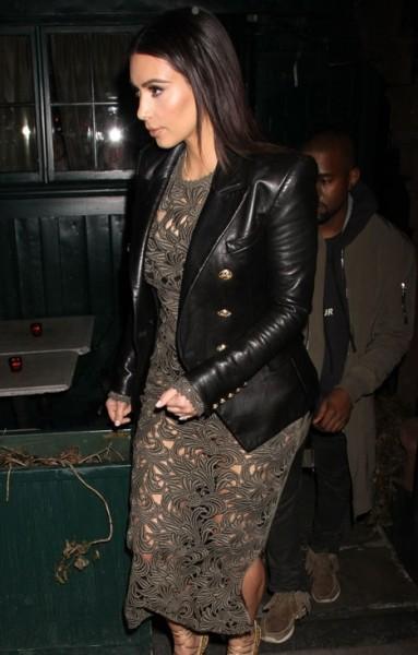 Women's Kim Kardashian Leather Jacket