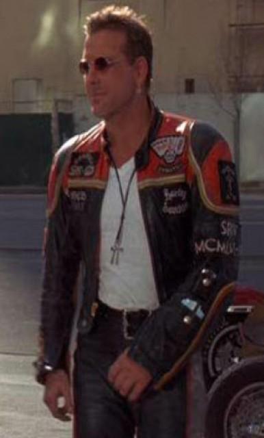 Harley Davidson and Marlboro Man Leather Motorcycle Jacket